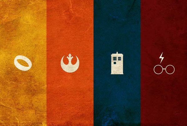 Geek Poster - Lord of the Rings, Star Wars, Dr. Who, Harry Potter Poster