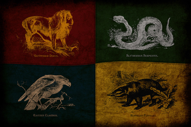Harry Potter Poster - Houses