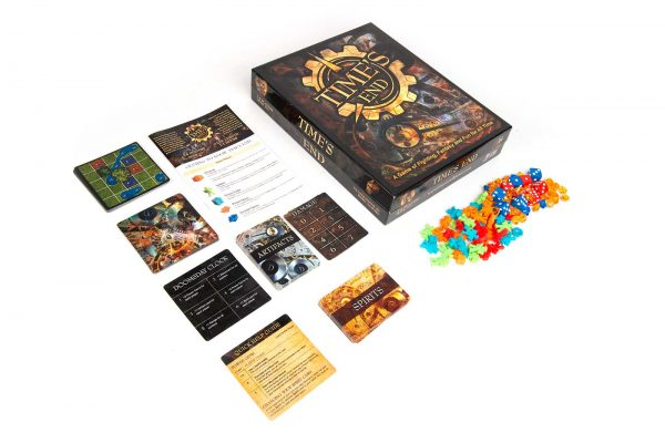 Time's End Game Board Game Setup Box Contents