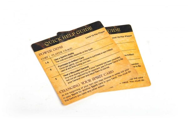 Time's End Game Board Game Quick Help Cards