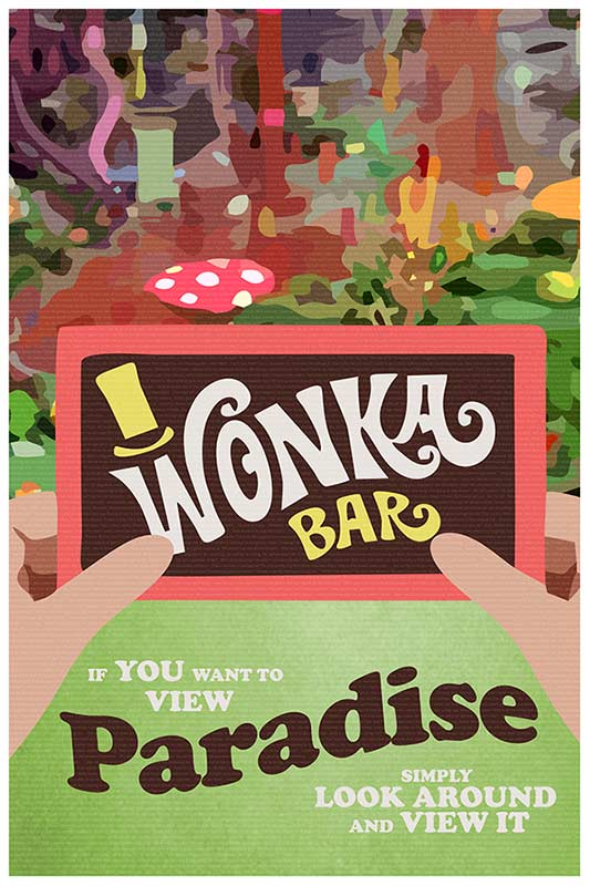 Willy Wonka Poster - Paradise