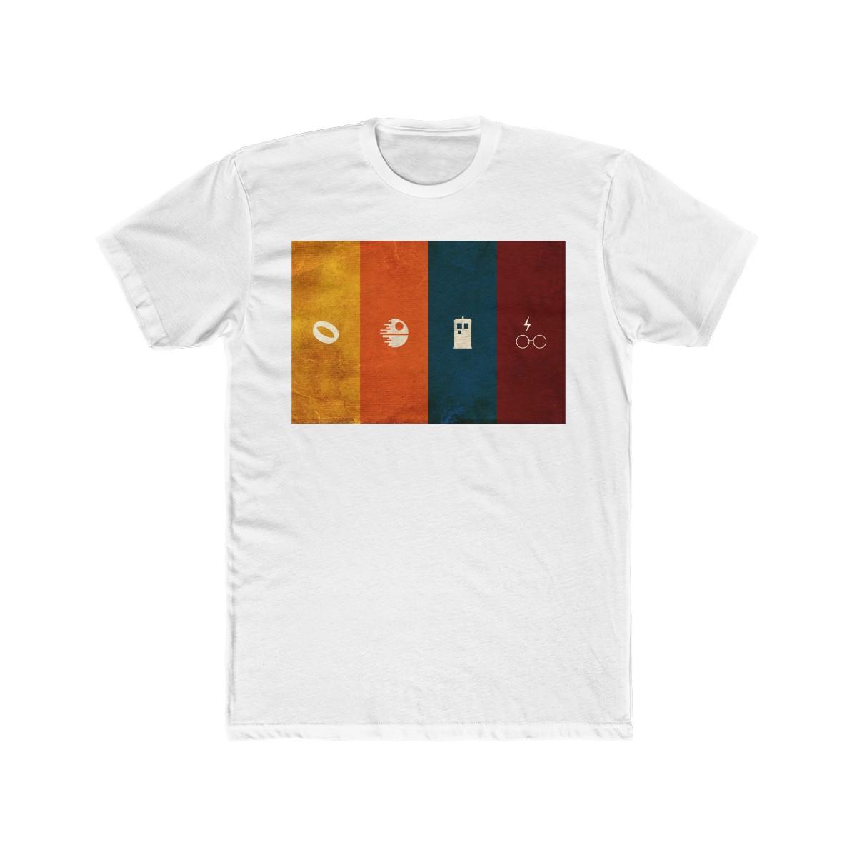 687574376c4e Geeky T-Shirt – Fantasy & Sci-Fi – Nerdy Minimalist Geek Designed Cotton  Crew Tee