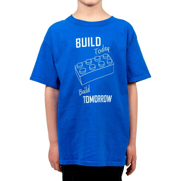 build today build tomorrow kids shirt design