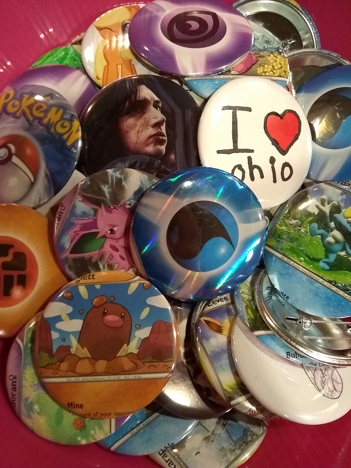 Custom Button Designs - Pokemon, Star Wars & More!