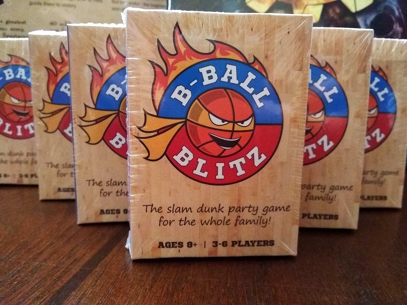b-ball blitz card game packaging