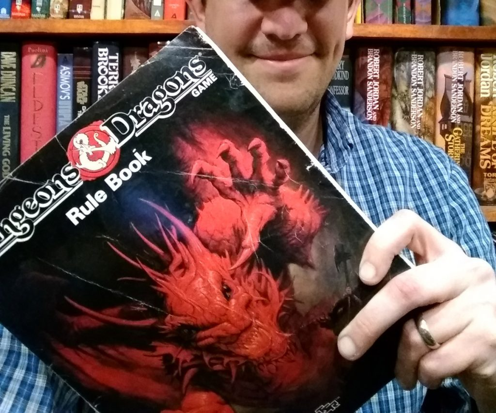dnd selfie dungeons dragons old rulebook