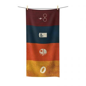 geeky beach towel