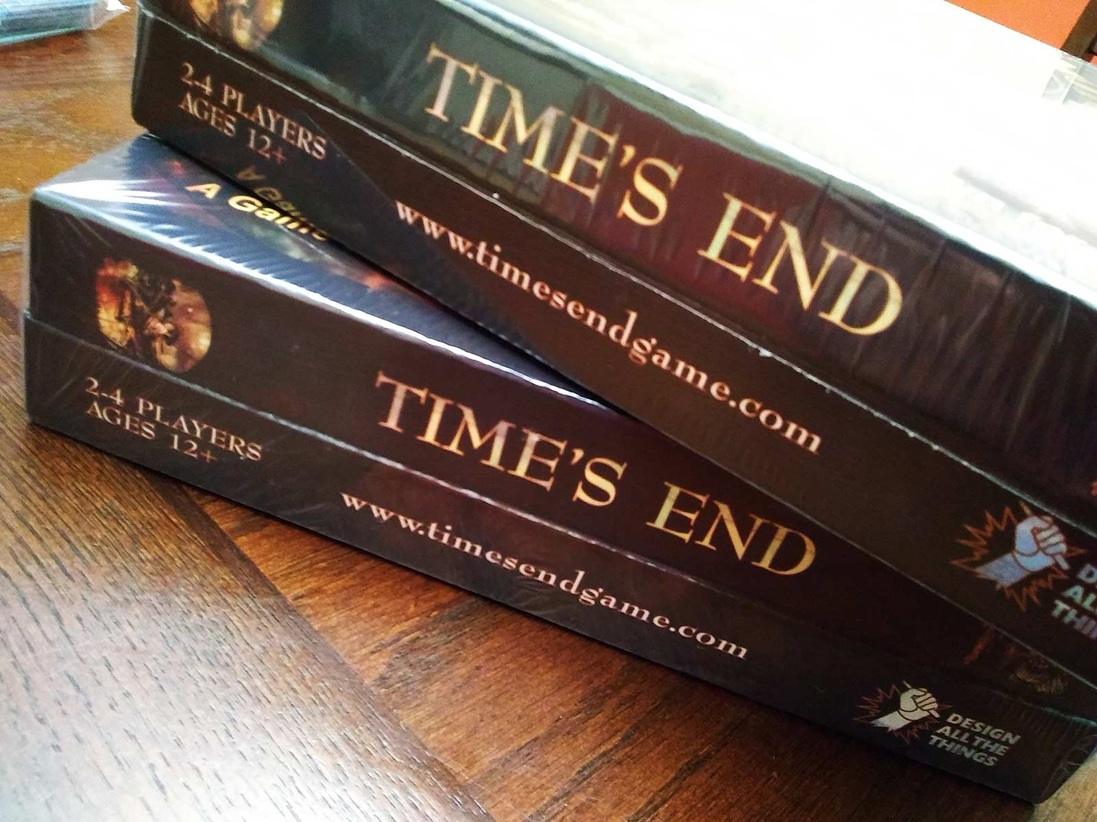 times end board game box packaging
