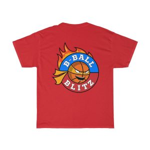 cb0daf107e04 B-Ball Blitz – Fire Basketball T-Shirt – Men's & Women's Unisex Heavy Cotton  Tee