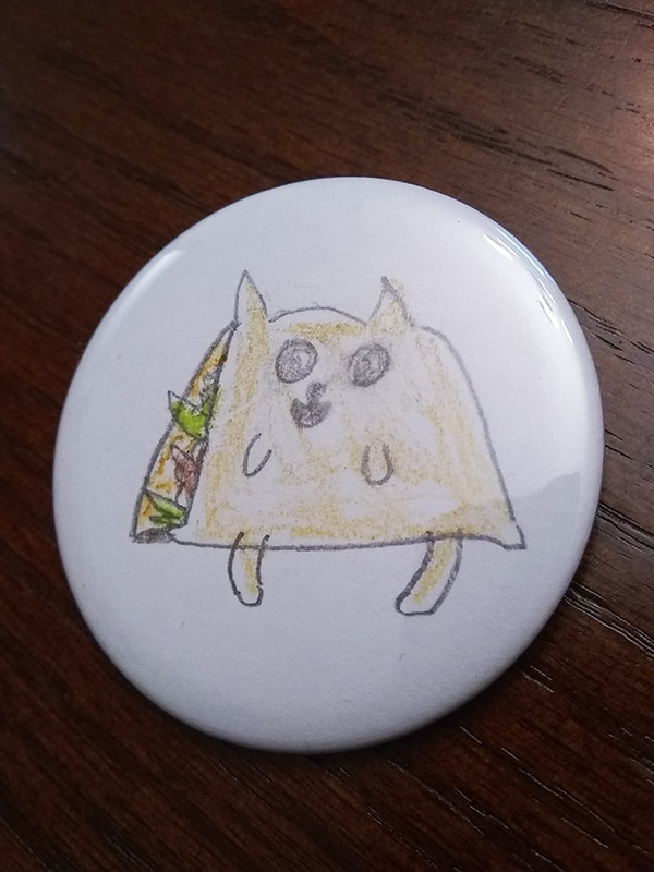 taco cat button