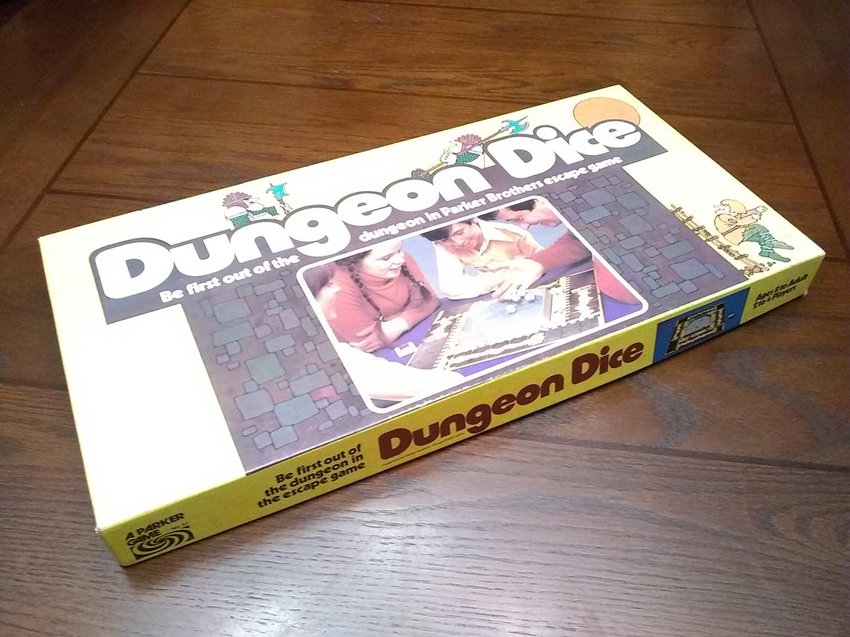dungeon dice board game box