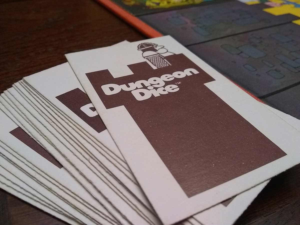 dungeon dice board game cards