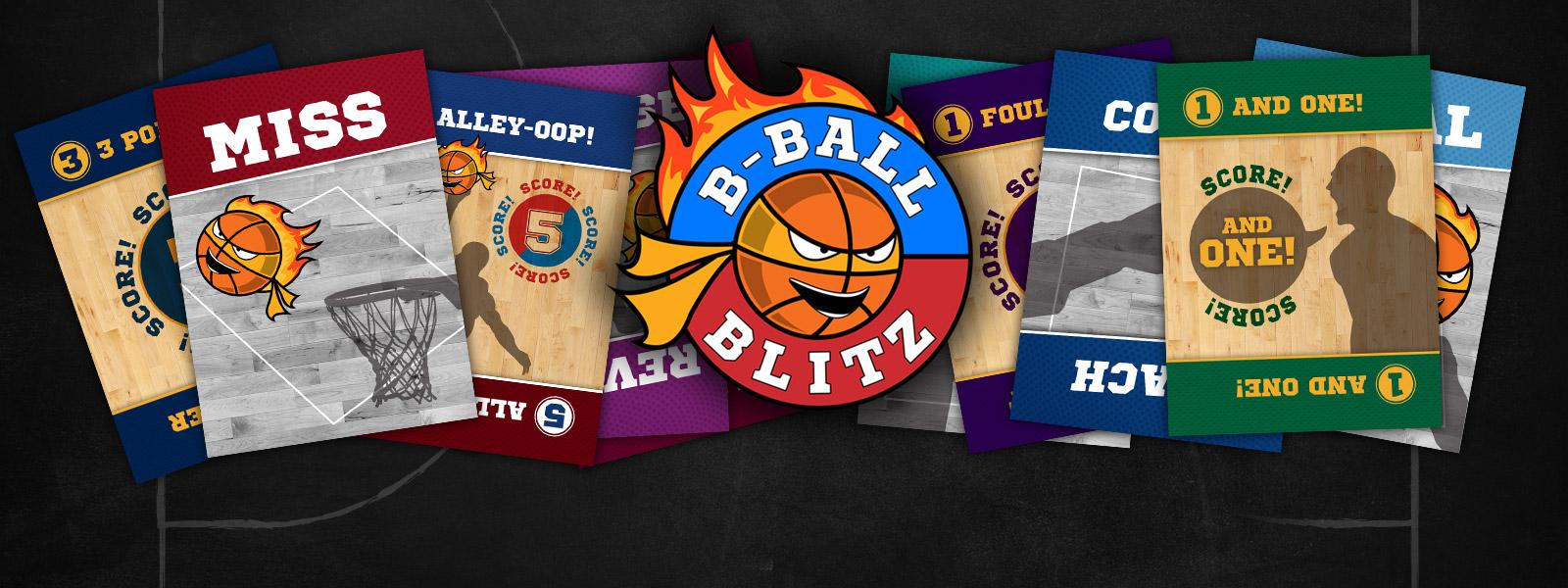 B-Ball Blitz Family Card Game Banner
